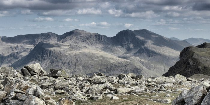 Scafell Pike - flying the birthday flag